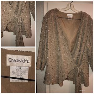 Chadwick's beaded wrap jacket Formal Sz 22W